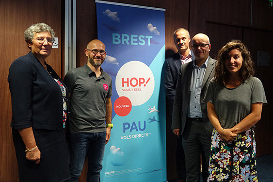 Conférence de presse du 20-09-2018 : ligne Brest-Pau - crédit B.Kermarec