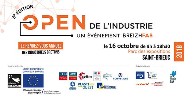 Open de l'industrie 2018 : le 16 octobre  à Saint Brieuc