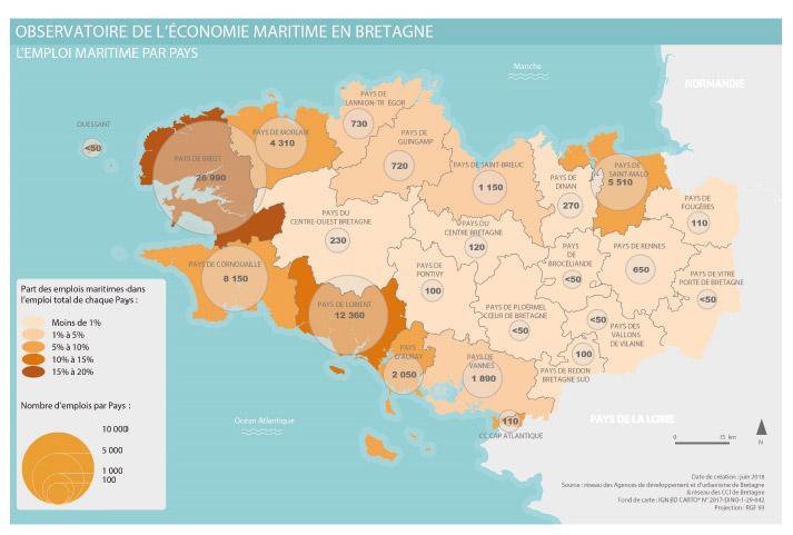 L'emploi maritime par Pays