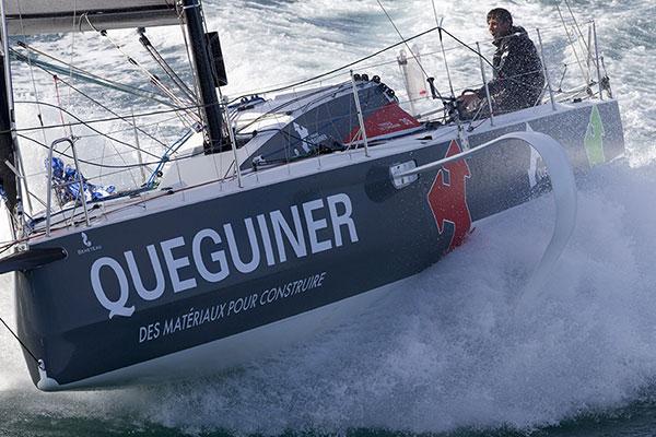 Figaro 3 Quéguiner, skipper Tanguy Le Turquais (Crédit photo : Alexis Courcoux)
