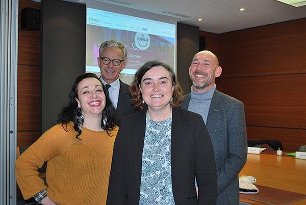 Frank Bellion Serge Appriou  et Aurelia Vaillant, Marine Romey du projet ornicar