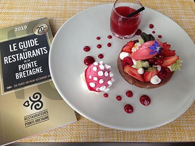 Guide des Restaurateurs Pointe Bretagne : un dessert présent dans le guide 2019