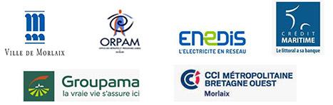 Les partenaires du concours Printemps des Générations 2019 : Ville de Morlaix, ORPAM, Enedis, Crédit Maritime, CCIMBO Morlaix, Groupama