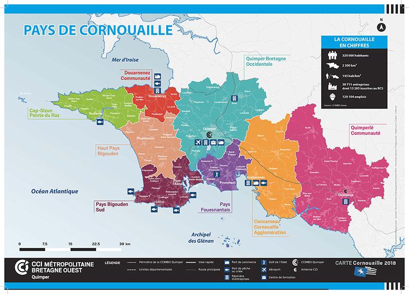 Le Pays de Cornouaille en chiffres