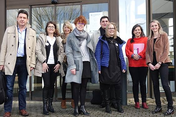 Les organisateurs du 7e salon de l'emploi des métiers du tourisme et de l'hôtellerie-restauration de Morlaix et leurs partenaires