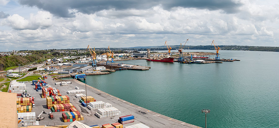 Vue panoramique du port de commerce de Brest - crédit photo (DR) G. Pachoutine