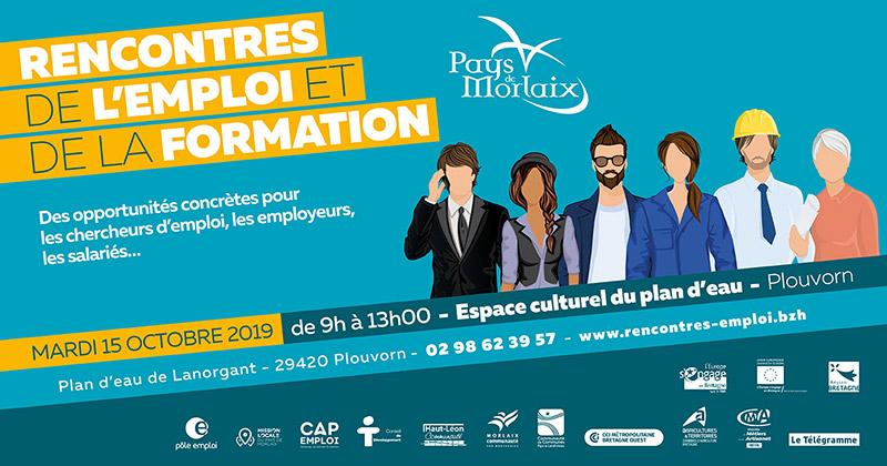 Rencontres de l'emploi et de la formation du Pays de Morlaix : mardi 15 octobre 2019 à Plouvorn