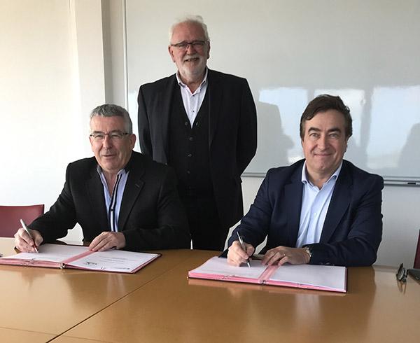 La CCIMBO Morlaix et la Communauté de Communes de Haute Cornouaille signent une convention de partenariat pour 2019-2022 (crédit photo : CCIMBO Morlaix)