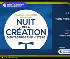 Bilan de la Nuit de la Création d'entreprise en Finistère - édition 2019 à Quimper