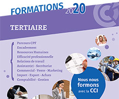 CCIMBO : formations tertiaires 2020