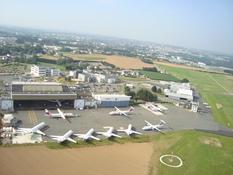 Vue aérienne aéroport de Morlaix-Ploujean