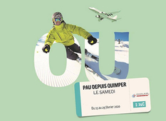 """Chalair ouvre une ligne """"ski"""" Quimper Bretagne - Pau Pyrénées"""