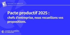 Pacte productif 2025 pour le plein emploi, les CCI mobilisées