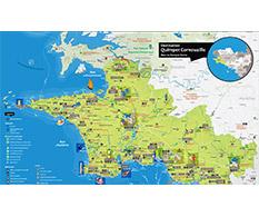 Carte touristique Destination Quimper Cornouaille
