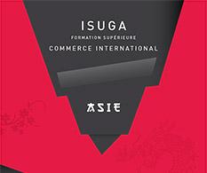 Plaquette Isuga : formation supérieure au commerce international