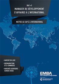 EMBA : plaquette Manager du développement d'affaires à l'international