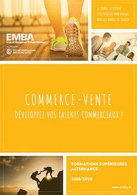 EMBA : plaquette formations commerce-vente 2019/2020