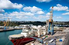 vue d'ensemble du port de commerce de Brest