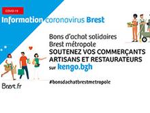 Brest métropole : bons d'achat solidaires chez les commerçants, artisans, restaurateurs