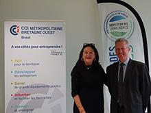 CLCL et CCIMBO Brest partenaires pour œuvrer en faveur du développement économique et de l'emploi (crédit photo : B. Kermarec/CCIMBO)