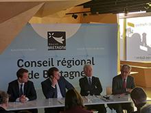 Conférence de presse Région bretagne