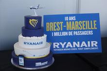 les 10 ans de la Ligne Ryanair entre Brest et Marseille
