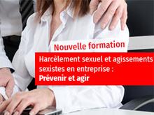 """Formation """"Prévention du harcèlement sexuel et des agissements sexistes"""" à la CCIMBO"""