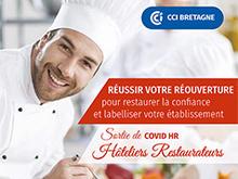 La CCI métropolitainen Bretagne ouest poursuit son engagement en faveur des professionnels de l'hôtellerie-restauration