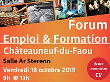 Forum de l'emploi et de la formation le 18 octobre à Châteauneuf-du-Faou