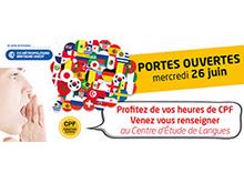 CCIMBO : Portes ouvertes dans les Centres d'Étude de Langues de Brest, Morlaix et Quimper le 26 juin 2019