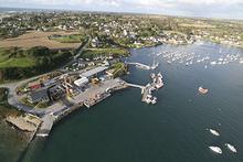 Vue aérienne du port de l'Aber Ildut - crédit photo : Panoramic Bretagne