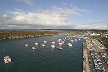 Vue aérienne du port du Conquet - crédit photo : Panoramic Bretagne