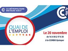 Quai de l'emploi : le 20 novembre 2019 à la CCIMBO Quimper