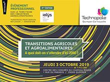 Transitions agricoles et agroalimentaires : conférence le jeudi 3 octobre 2019 à Quimper