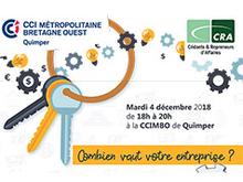 """Conférence """"Combien vaut votre entreprise"""" le 4 décembre à Quimper"""