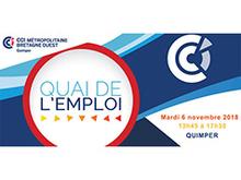 Quai de l'emploi : le 6 novembre 2018 à la CCIMBO Quimper