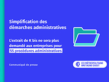 Simplification des démarches administratives
