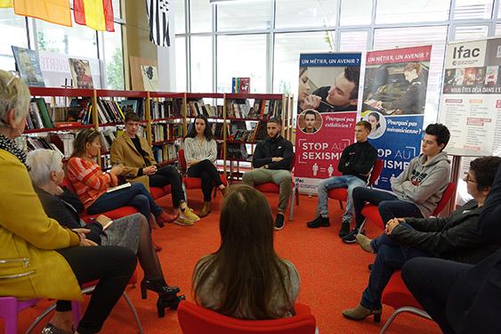 Table ronde à l'Ifac Campus des métiers de Brest