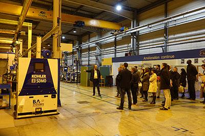 Visite du site de production de Kohler-SDMO à Guipavas, 3e exportateur mondial de groupes électrogènes.