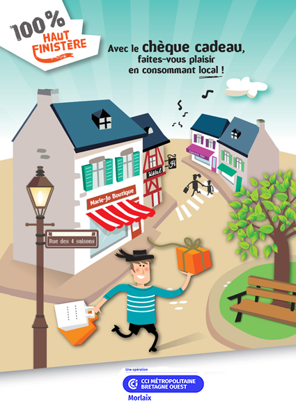 Avec le chèque cadeau 100 % Haut Finistère, faites-vous plaisir en consommant local !